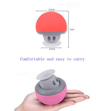 1PC High Quality Small Mushroom Sucker Bluetooth Speaker Mini Subwoofer Wireless Creative Portable Outdoor Car Cartoon Bracket(China)