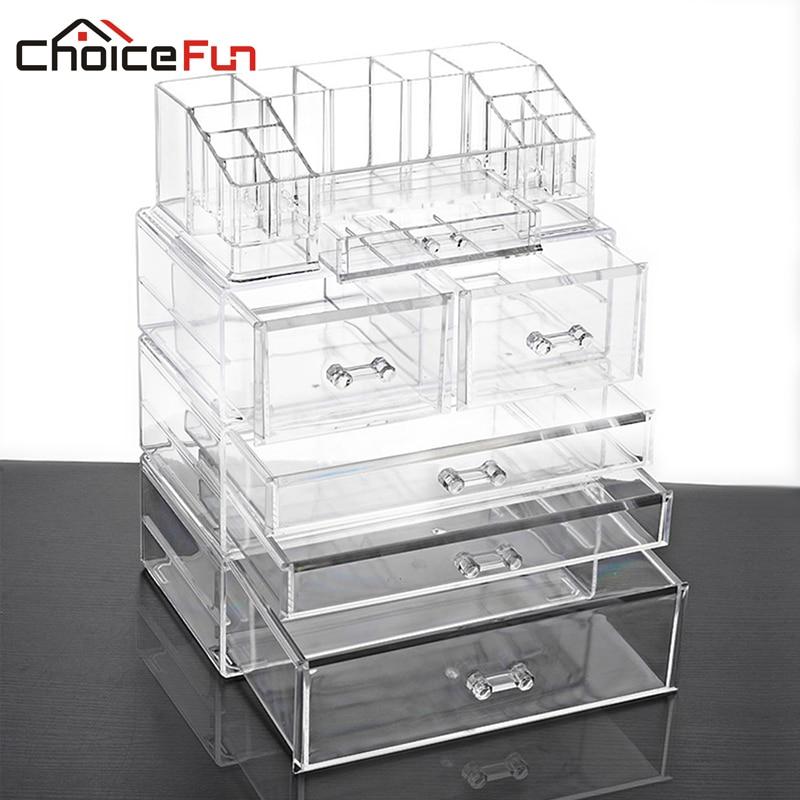 CHOICE FUN Clear Drawer Organizer Makeup Organizer Multifunction Storage  Box Acrylic Makeup Drawer Organizer Box SF
