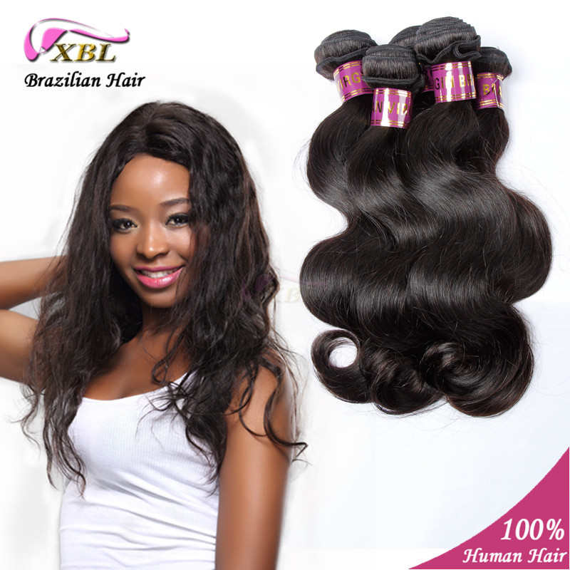Hot sale 4pcs/lot 6A Brazilian Virgin Hair Body Wave XBL hair Products 100% Natural Color Human wavy Hair Extension<br><br>Aliexpress