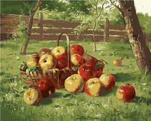 No frame Harvest orchard DIY digital Painting By Numbers Acrylic Paint By Numbers Oil Painting pictures On Canvas For Home Decor