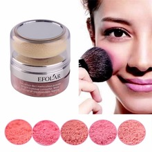EFOLAR Fashion Women Girls 3D Pure Mineral Face Cheek Soft Natural Blush Blusher Powder Cosmetic With Sponge(China)