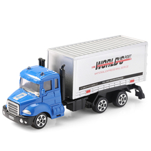 Alloy Truck 1:64 Scale Mini World Post Container Truck Model Toy Kids Toys Collection Gift