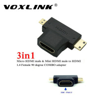 High Speed 3 in1 Micro HDMI male + Mini HDMI male to HDMI 1.4 Female Cable Adapter Converter for HDTV 1080P HDMI Cables COMBO