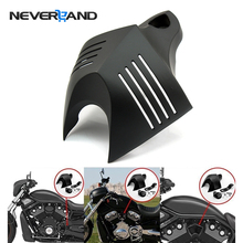 Neverland Zwart Aluminium Motorcycle V-shield Stock Cowbell Hoorn Cover Voor Harley Dyna Straat Bob FXDB Fat Bob FXDF twin Cam D25(China)