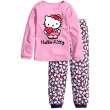 Children Autumn Pajamas Set Boys Cartoon Sleepwear Suit Set 2017 Girls long-sleeved Blouse+ pant 2-piece suit Set