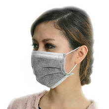 50pcs/lot Disposable Mouth Mask Skin-friendly Medical Dust Mouth Surgical Face Mask Professional Health Care Black Masks(China)