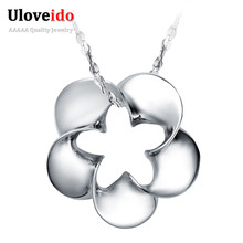 Female Necklaces Flower Pendant Red Jewelry Women's Collar Vintage Valentine's Day Sale Zircon Lucky Gift for Girls 15% off N006(China)