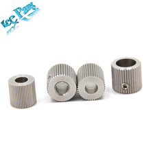 MK7 MK8 Gear Stainless Steel Extruder Feeder Driver Pulley 3D Printers Parts Wheel 40 Teeth 50teeth 38 Tooth Bore 5mm 8mm Part(China)