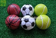 Free Shipping Sports golf balls double ball for golf best gift for friend 6pcs/lot(China)
