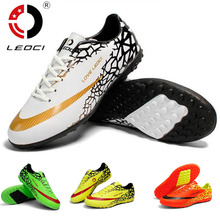 LEOCI soccer shoes mens indoor sport Football shoes cleats boots botas de futbol chuteiras kids adult TF/FG Trainers Sneakers