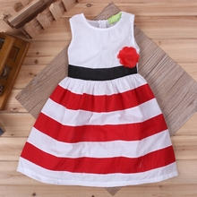 Fashion casual baby girl sleeveless dress cotton infant smocked dresses for girls