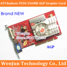 Free Shipping 100% NEW ATI Radeon 9550 256MB 128BIT DDR2 S-Video VGA DVI AGP 4x 8x video Card Free Shipping