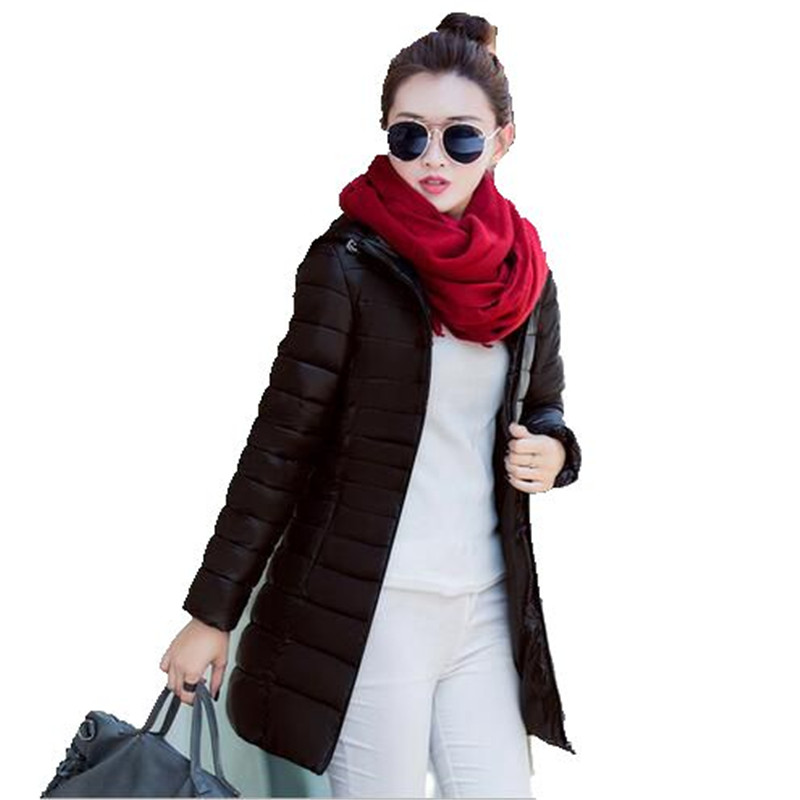 Winter Jackets Coat 2017 New Women Big Yards Down CottonJacket Thicken Hooded Slim Coat Long Padded Jacket Winter Parka A2047Одежда и ак�е��уары<br><br><br>Aliexpress