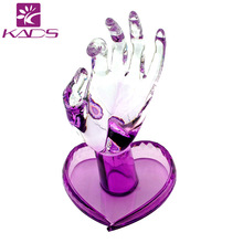 KADS Acrylic Nail Practice Hand Supply New Super Flexible Rotate Human Fingers Personal & Nail Trainer Training Practice Hand(China)