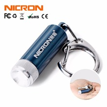 NICRON Micro Led Keychain Light Portable cree Mini LED Flashlight for home Torch lamp waterproof 0.25W Pocket Camping Light(China)