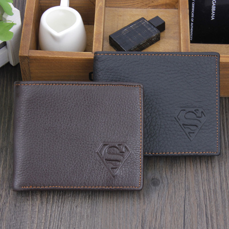 YOUYOU MOUSE Superman Genuine Leather Men Wallet Top Quality Cowhide Wallet Men Short Carteira Card Holder Clutch Casual Purse<br><br>Aliexpress