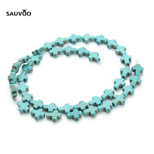 1 String Natural Stone Cross Bead Beads Loose Spacer Beads 0.8*1cm for DIY Necklace Bracelets Jewelry Making Findings F1274