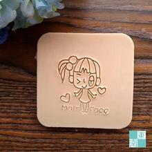 Free shipping Lovely Girl Natural Soap Handmade Soap Mini DIY Soap Stamp Soap Chapter 4cm*4cm