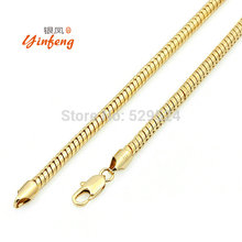 [MeiBaPJ] Real Necklace Men Jewelry Wholesale New fshion Wide Snake Chain Necklace(China)