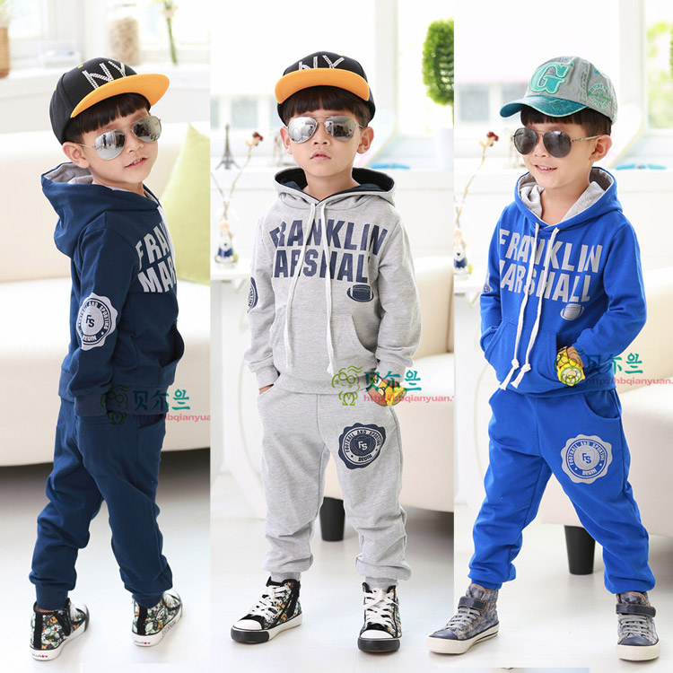 Cotton Terry 2015 children during the spring and Autumn New Korean boy pants children sweater coat suit for children<br><br>Aliexpress