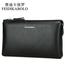 FEIDIKABOLO Top Quality Men Wallets Luxury Black Leather Purse Long Dollar Price Male Carteira Masculina Clutch Wallet Handy Bag(China)