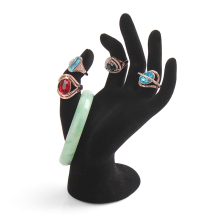2015 New 1pcs Black Velvet Jewelry Ring Bracelet Necklace Hanging Hand Display Holder Stand Show Rack Resin wholesale