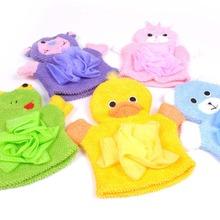 Cartoon Bath Gloves Children Bath Sponge Big Foam Body Clean Bath Flower 4 Colors(China)