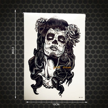 1PC Large Size Brand New 3D Psychic Designs Temporary Tattoo Stickers GHB-180 Women Punk Tattoo Paste Taty Tatouage Body Arm Men