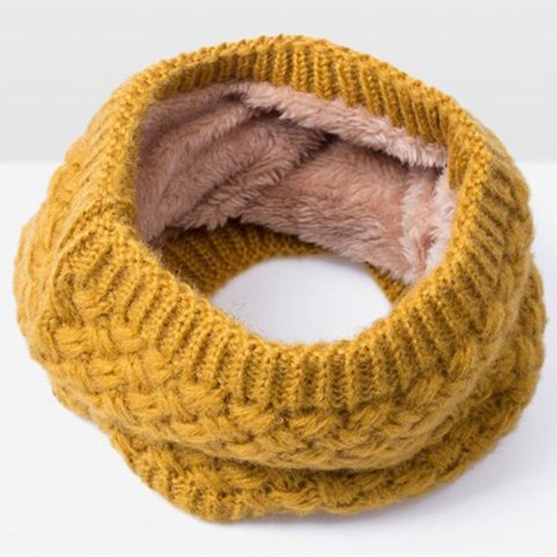 Fashion Unisex Soft Knitted Neck Circle Scarves Snood Neck Circle Warm Winter Cowl Scarf Shawl 8 colors For women men NaroFace