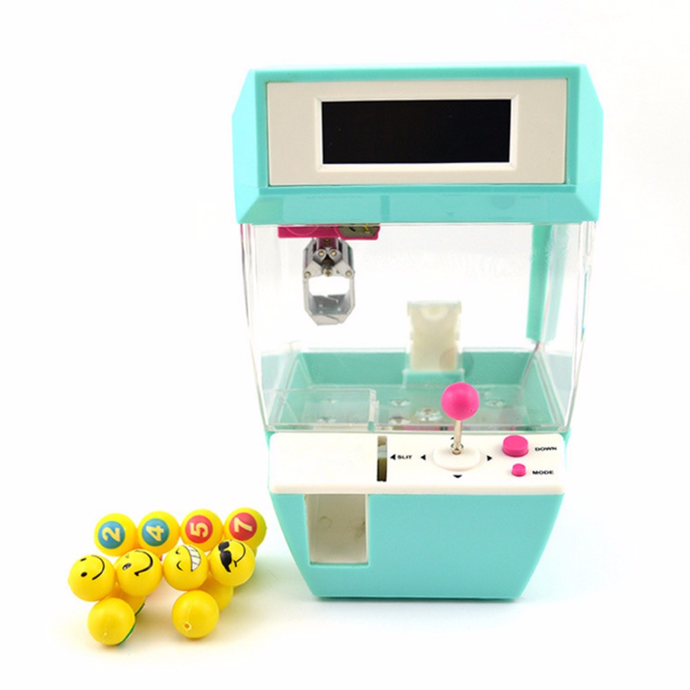 Coin Operated Candy Grabber Doll Candy Catcher Crane Machine + Alarm Clock Board Game Party Fun Toys for Children New Year Gift(China)