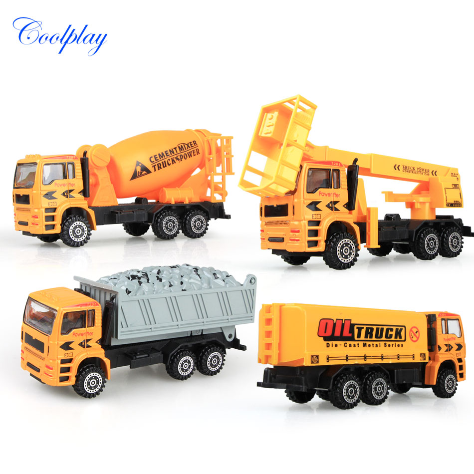 Coolplay Alloy engineering car models toy car dump car truck artificial model cars classic toys Free shipping CPF09(China (Mainland))