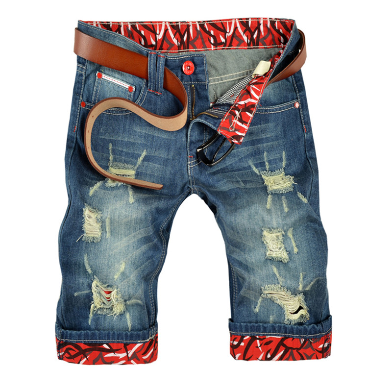 YONO New Fashion Men Jeans Casual Denim Shorts Summer Fit Punk Distressed Hole Mid-Length Brief Male Shorts Vintage Plus SizeОдежда и ак�е��уары<br><br><br>Aliexpress