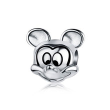 Buy Authentic 925 Sterling Silver Mickey Charm Beads Fit Original Pandora Charms Bracelets & Necklaces DIY Jewelry Making Berloque for $4.94 in AliExpress store