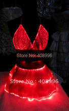 Sexy optical fiber fabric luminous corsage and skirt for performance/fashion show/Singular dress/Show Clothing/01