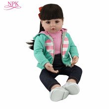 NPK Doll Toy Victoria Bebes Lifelike Baby Princess Kids for 47CM Bonecas Menina