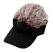 New Fashion Unisex Baseball Cap Fake Hair Sun Visor Golf Hats Men Women Wig Funny Hair Baseball Hats HO977263