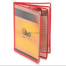 A4 4 pages PVC Recipe frame book Restaurant food shop menu frame file list picture albums