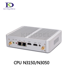 Fanless Desktop PC Barebone Mini PC Intel Celeron N3150 Quad Core N3050 Dual Core, 4*USB 3.0,2*HDMI, 2*LAN,TV Box, Box PC