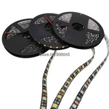 5050 Black PCB LED Strip 5M/LOT 60LED/M DC12V IP65 Waterproof or IP20 Non-Waterproof White / Warm White / RGB 5050 LED Stripe(China)