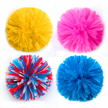 5#,1-12pcs,44colors,football cheerleader pom pomsbaton handle pom poms cheerleading soccer stella punto majorettes basketball