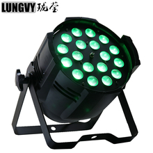 Free Shipping DMX Disco Stage Lights LED Par Can 18x18W RGBWA UV Led Par Zoom Light Stage Light for Show/Performance/Party