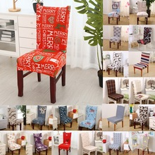 1pcs Plaids Christmas Stretch Home Decor Dining Chair Cover Spandex Decoration covering Office Banquet Hotel chair Covers 43006(China)