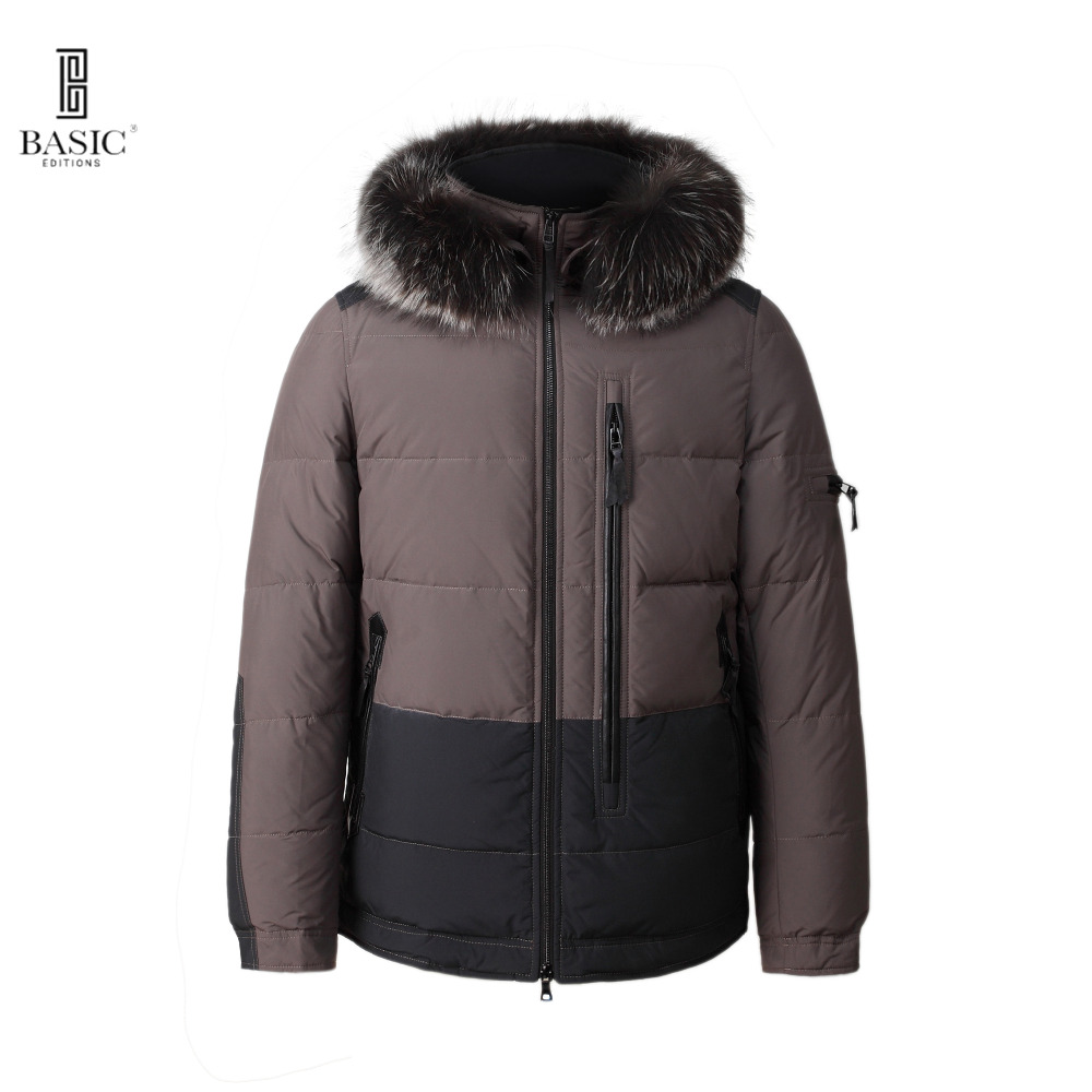 BASIC-EDITIONS Men's Winter Casual Fur Hood 3M Thinsulate Cotton Casual Jackets - BC1-066Y