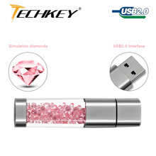 Lipstick usb flash drive 4GB 8GB 16GB 32GB 64GB crystal Jewelry creative u disk pen drive pendrive memory card disk