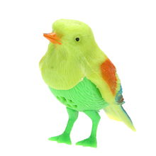 Plastic Sound Voice Control Activate Chirping Singing Bird Funny Toy Gift Random Color(China)