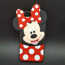 3D Cartoon Mickey Minnie Mouse bow-knot Soft Silicone Case For huawei Y635 P8 Lite P9 P9 Lite G9 Fundas Rubber Covers Phone case