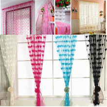 200cm x 100cm New Drop String Tassel Divider Room Blind Fly Screen Door Brand New Window Curtain Heart Gift YMC001(China)