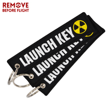 3 PCS/LOT Nuclear Launch Key Chain Bijoux Keychain for Motorcycles and Cars Scooters Tag Embroidery Key Fobs OEM Keychain Bijoux