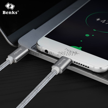 Benks Type-C to Type-C Cable For Macbook Xiaomi Mi5 Mi5s Plus Huawei Mate 9 Pro Oneplus 3T Nylon Double Type C Port Charge