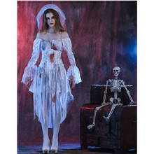 New Halloween Ghost bride Costume Dia de Los Muertos Horror Lace Sexy Fancy Dress Zombie Ghost Bride Costumes Adult Women(China)